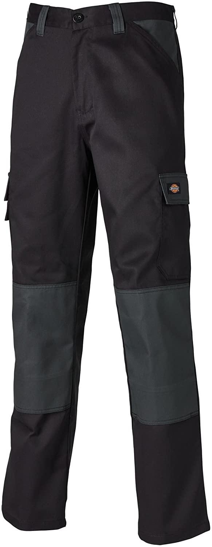 Dickies Mens Everyday Durable Cargo Pocket Work Pants (34R) (Black/Gray)
