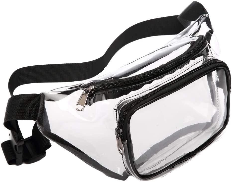 carduran Transparent Adjustable Belt Crossbody Backpack Zipper Chest Waist Bag Fanny Pack for Outdoor Men Women