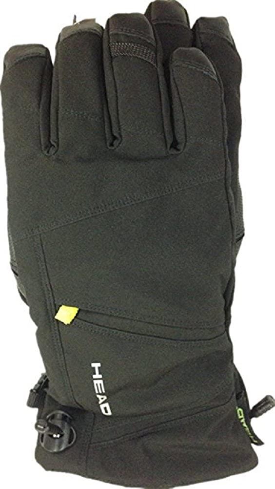 Head Men's DuPont Sorona Insulated Ski Glove With Pocket (Black/Lime,XL)