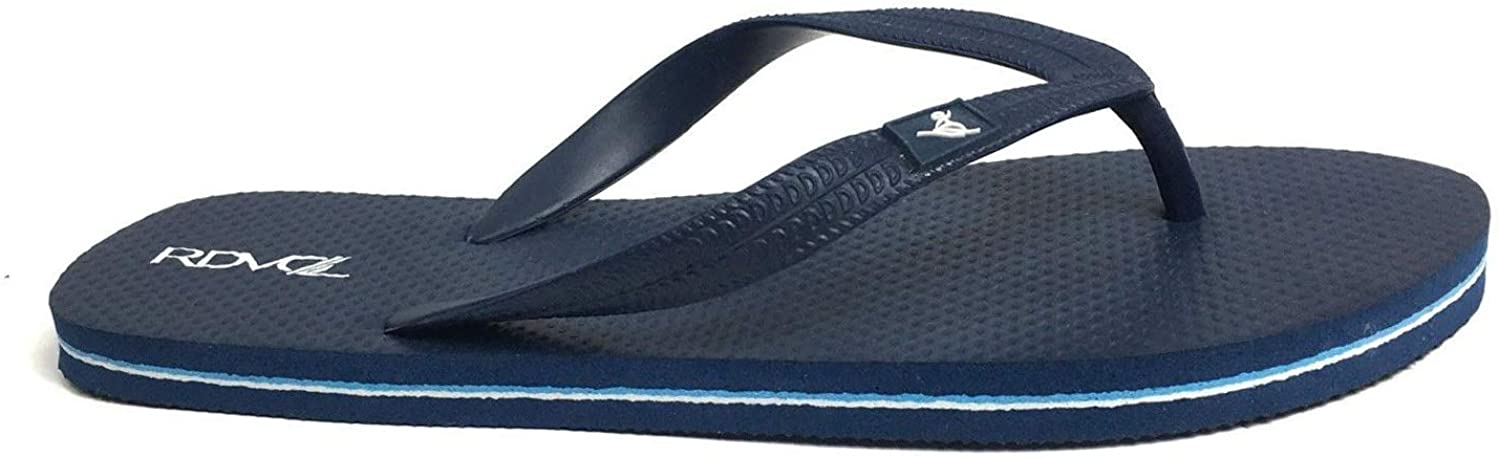 REDVOLUTION Men's Beach Flip Flop with Tribal Pattern Engraving Dressy Casual Sandals-