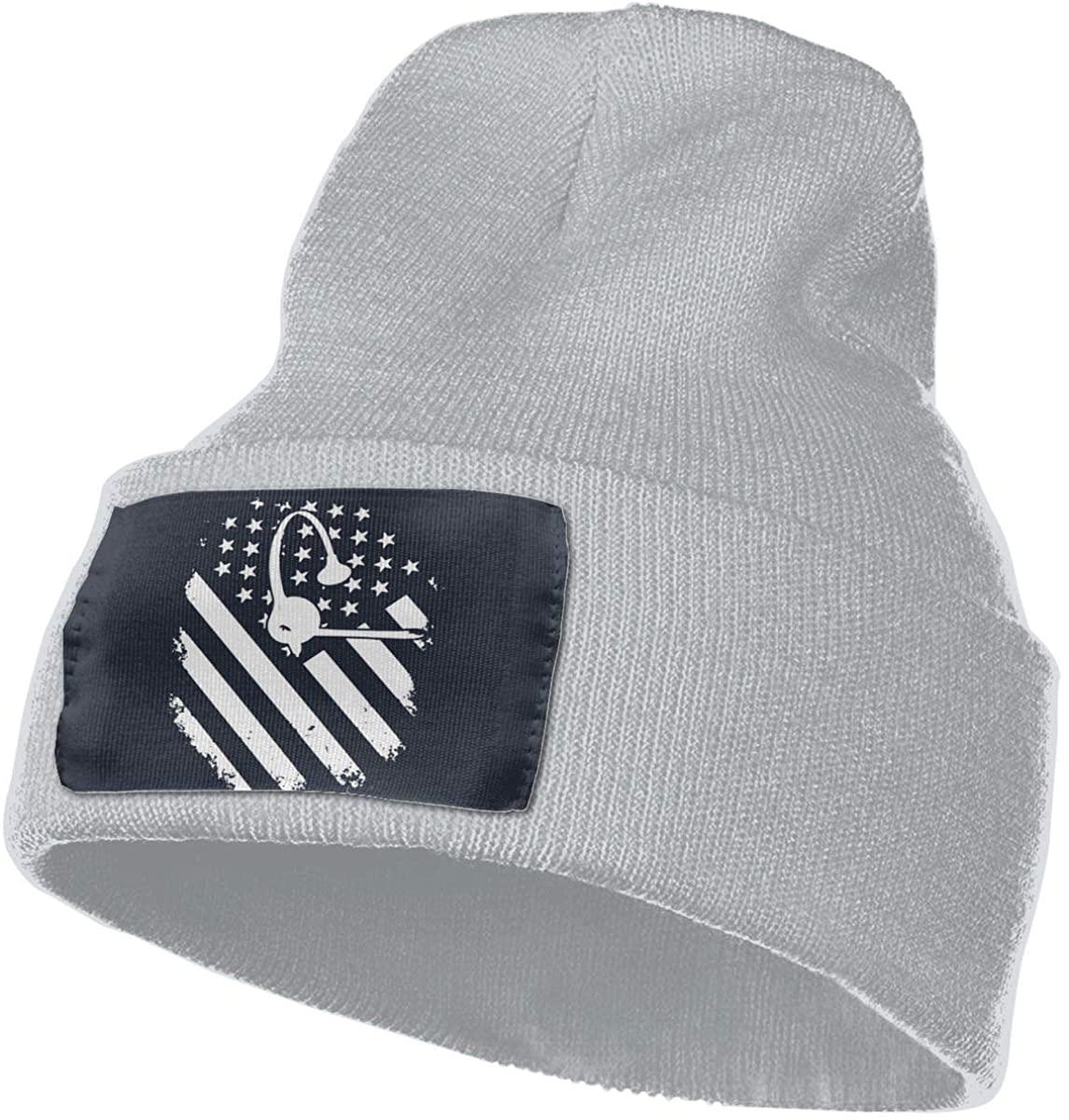SOURCE POINT Unisex Beanie Hat Dispatcher Flag 911 Knit Hat Cap Skull Cap