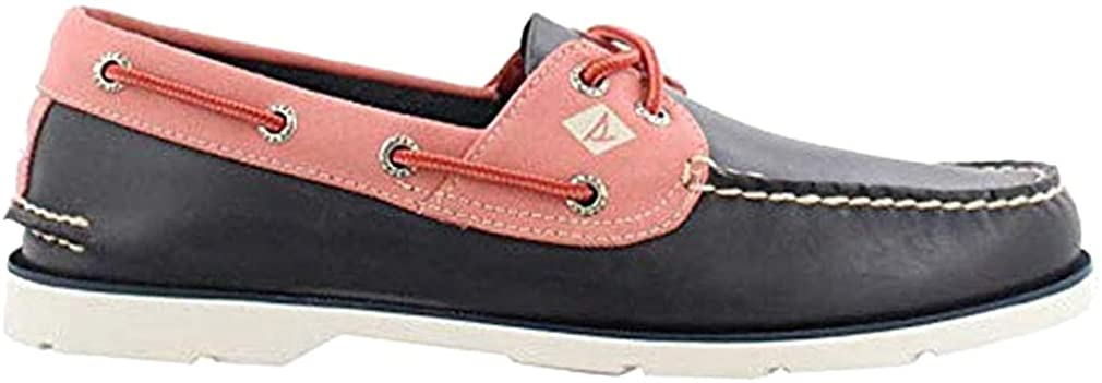 Sperry Men's, Leeward Boat Shoe Navy RED POPCOLLAR 8 M