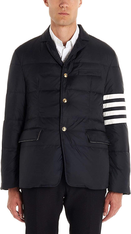Thom Browne Luxury Fashion Man MJD060X05411415 Blue Polyamide Down Jacket | Fall Winter 20