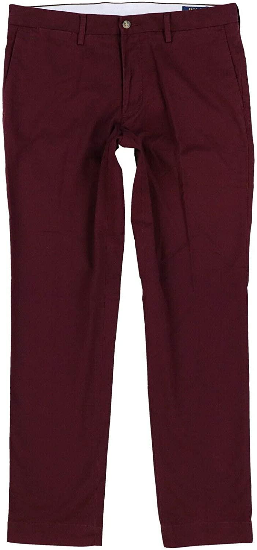 Ralph Lauren Polo Men's Stretch Slim Fit Chino Pants Burgundy