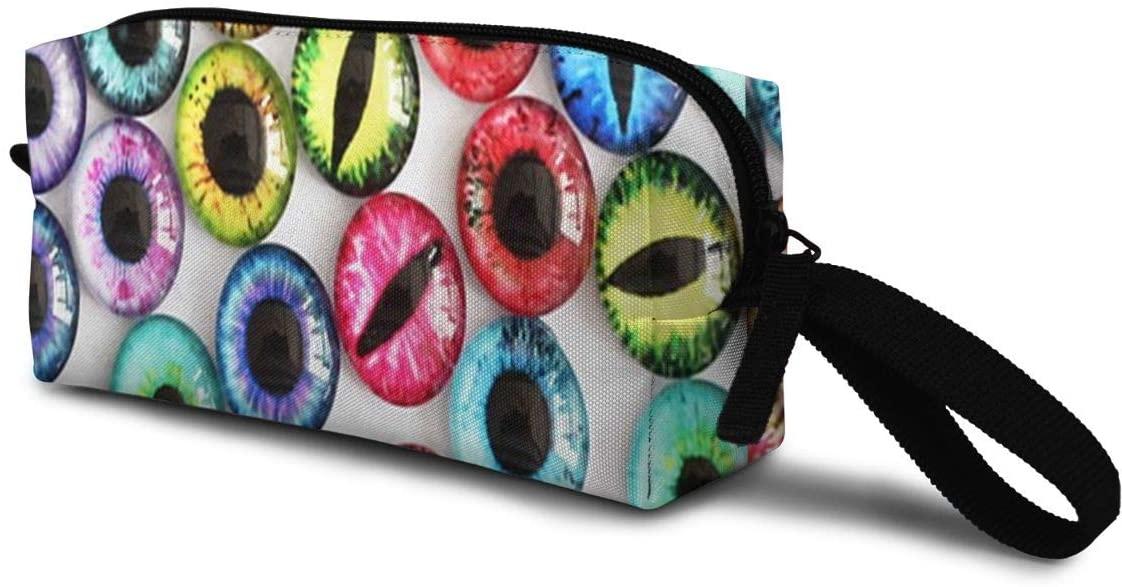 T-JH Many Colors Dragon Eyes Mini Makeup Bag,Portable Cosmetic Bag,Organizer,Toiletry Handbag,Storage Capacity Bags,Storage Pouch for Women Purse