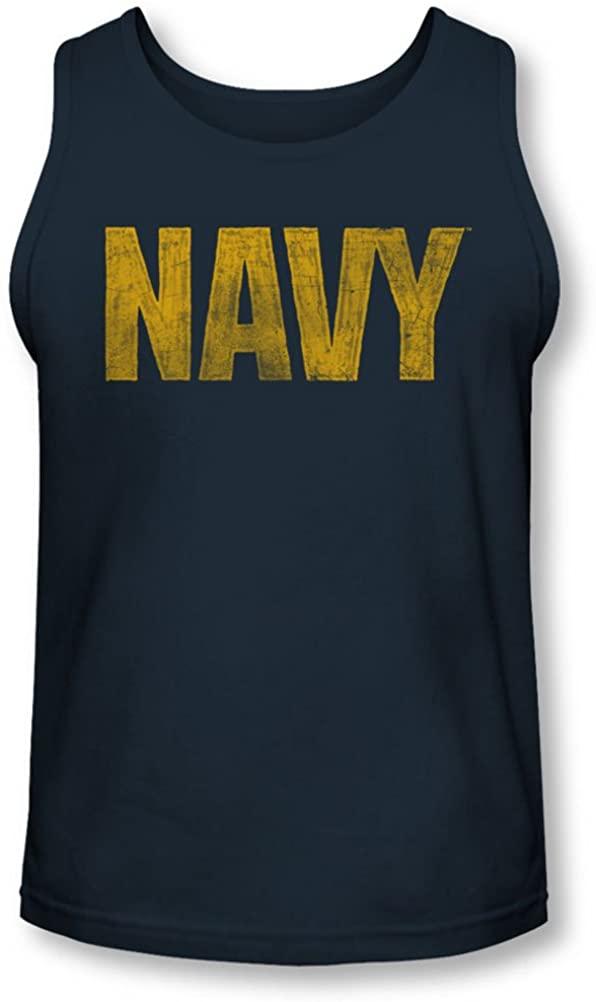 Navy - Mens Logo Tank-Top