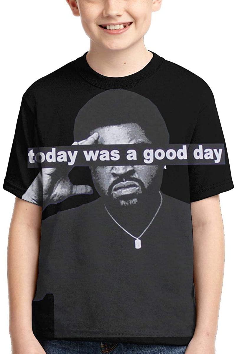 Ice Cube Boys' Casual Fashion Short Sleeve T Shirt Printing Design Boys' Tee
