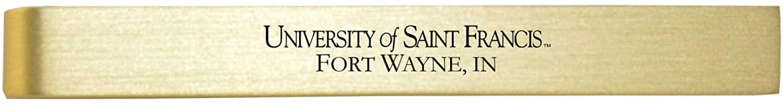 University of Saint Francis-Fort Wayne -Brushed Metal Tie Clip-Gold