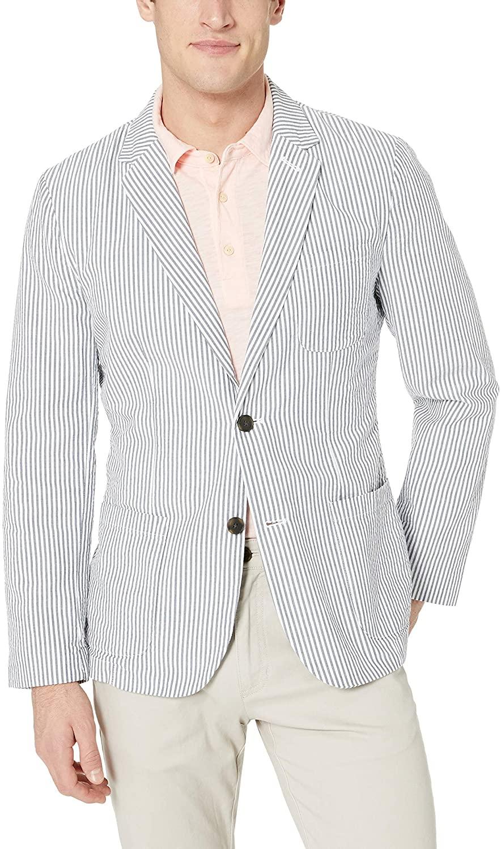 DHgate Brand - Goodthreads Mens Slim-fit Seersucker Blazer