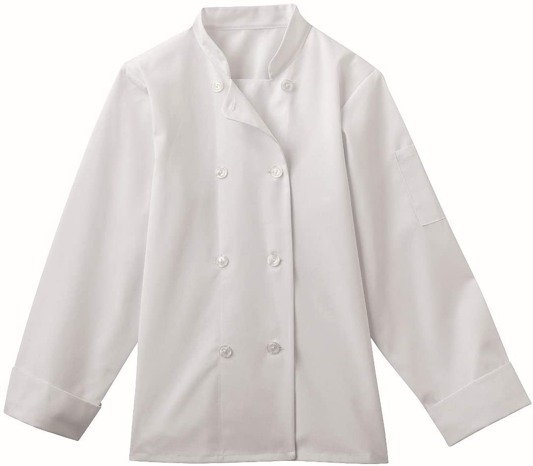 Five Star 18026 Women's 8 Button Chef Jacket White X-Large