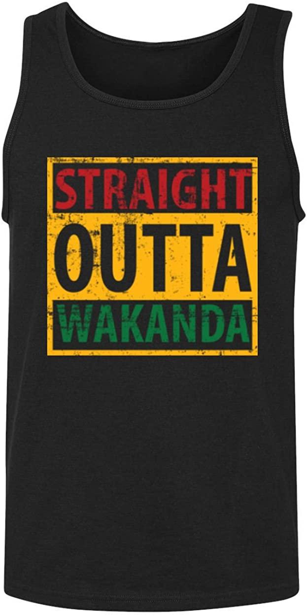RIVEBELLA Straight Outta Wakanda Novelty Black Panther Tank Top