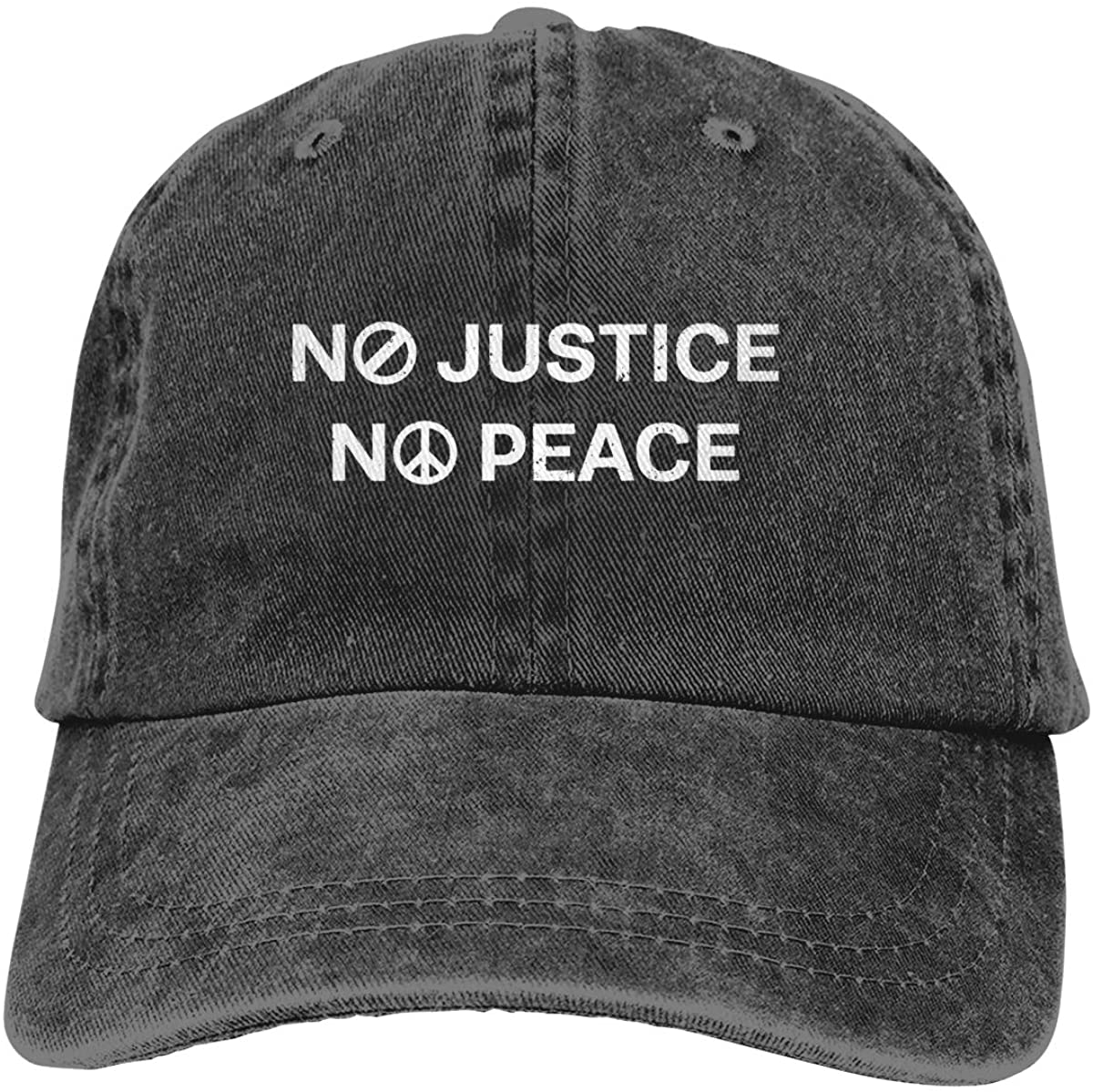 Unisex Classic American Style Printing No Justice, No Peace Adult Adjustable Denim Cowboy Hat