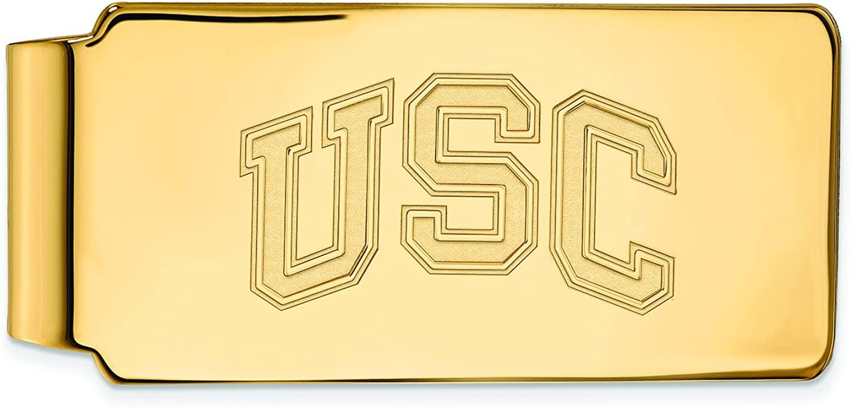 LogoArt 14k Yellow Gold University of Southern California Money Clip