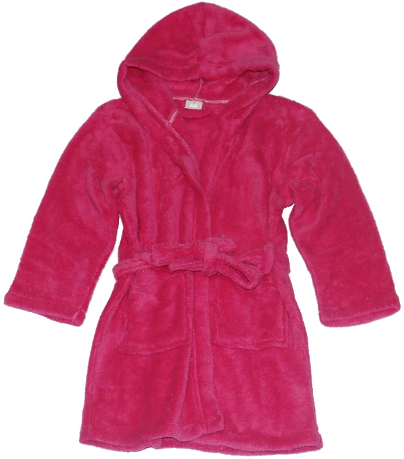 Evebright Kids Rose Red Cotton Terry Bathrobes Hooded for Girl 4-5 Years Old
