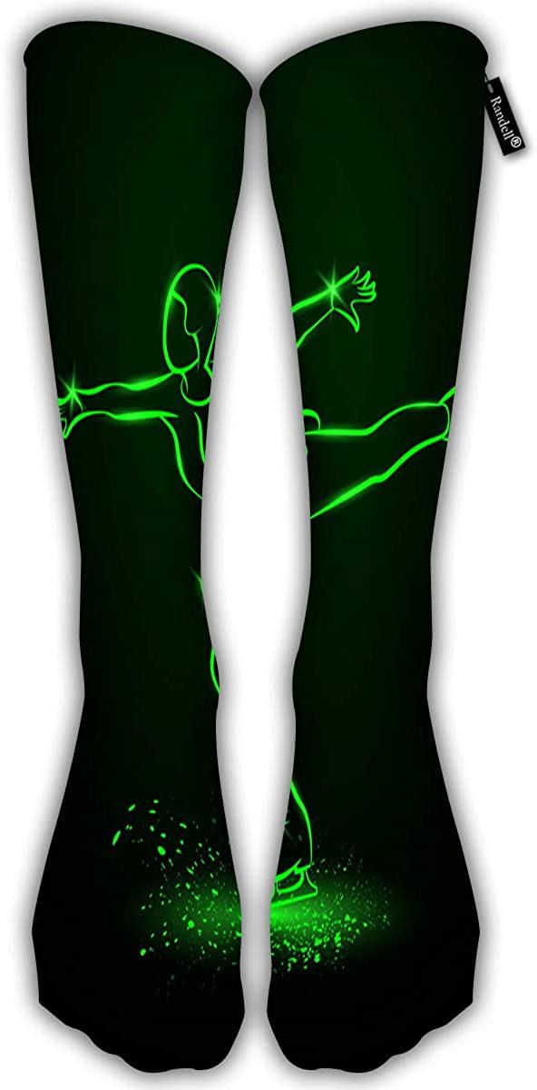Knee High Graduated Compression Socks Flower Seamless Running & Fitness 50Cm