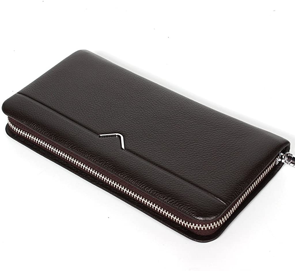 Men's Leather Wallet RFID Blocking Credit Card Holder Coin Pocket Purse 22x12x2.5CM
