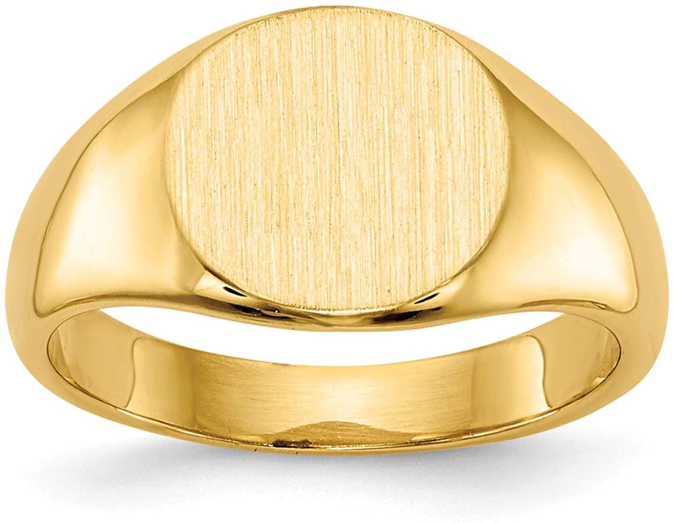 Bonyak Jewelry 14k 7.5x9.0mm Closed Back Child's Signet Ring in 14k Yellow Gold - Size 3