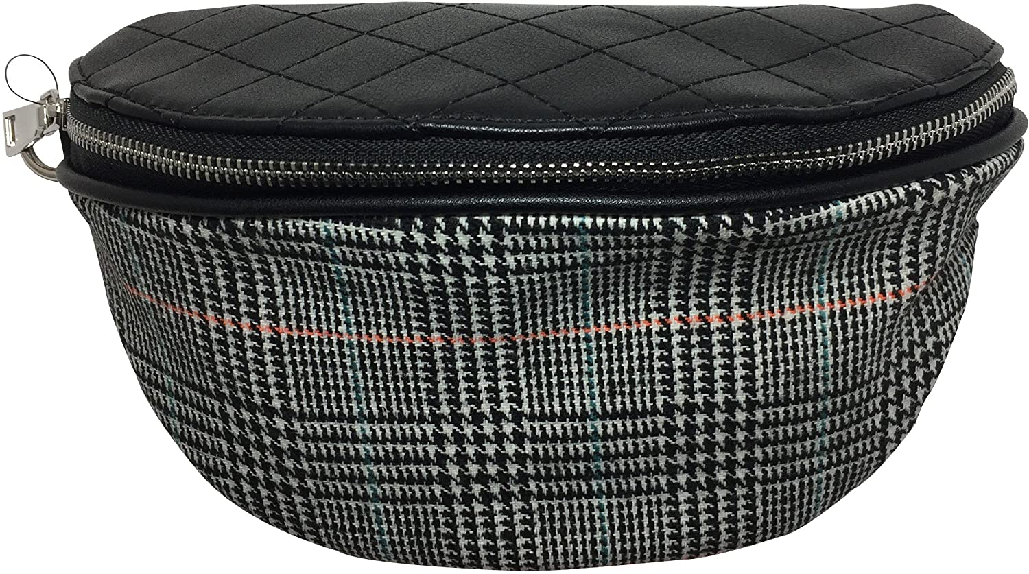 Black Plaid Fanny Pack