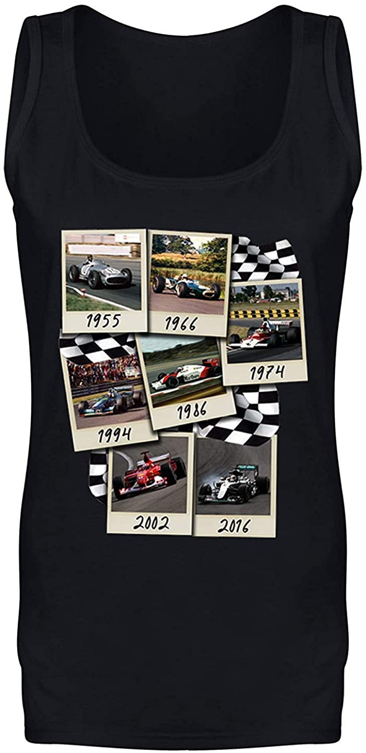 Formula F Cars 1 One Retro Photos from Each Decade Vest Tank Top - Mens and Womens Sizes