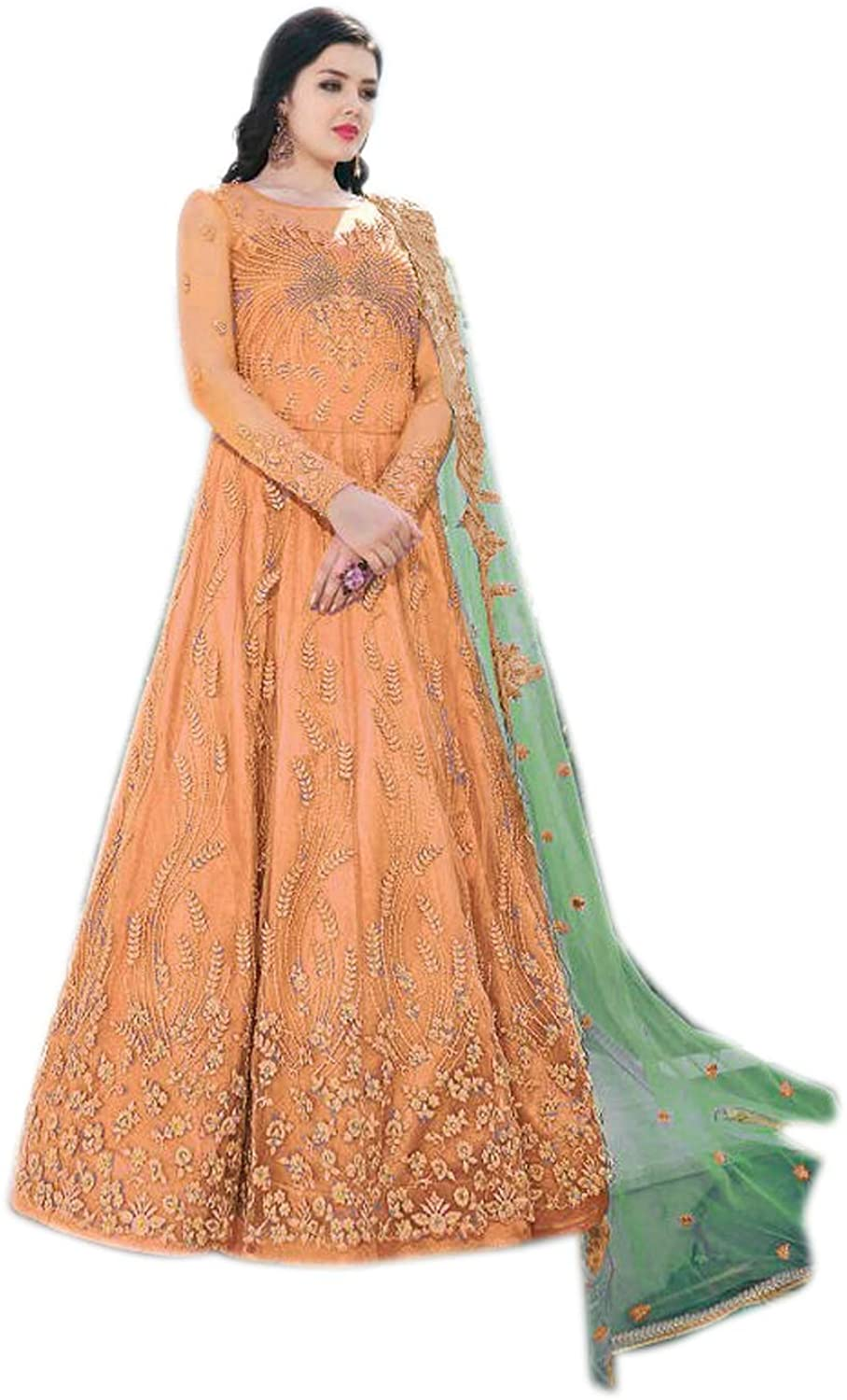 We Designer New Styelis Indian/Pakistani Bollywood Party Wear Long Anarkali Gown Suit for Womens