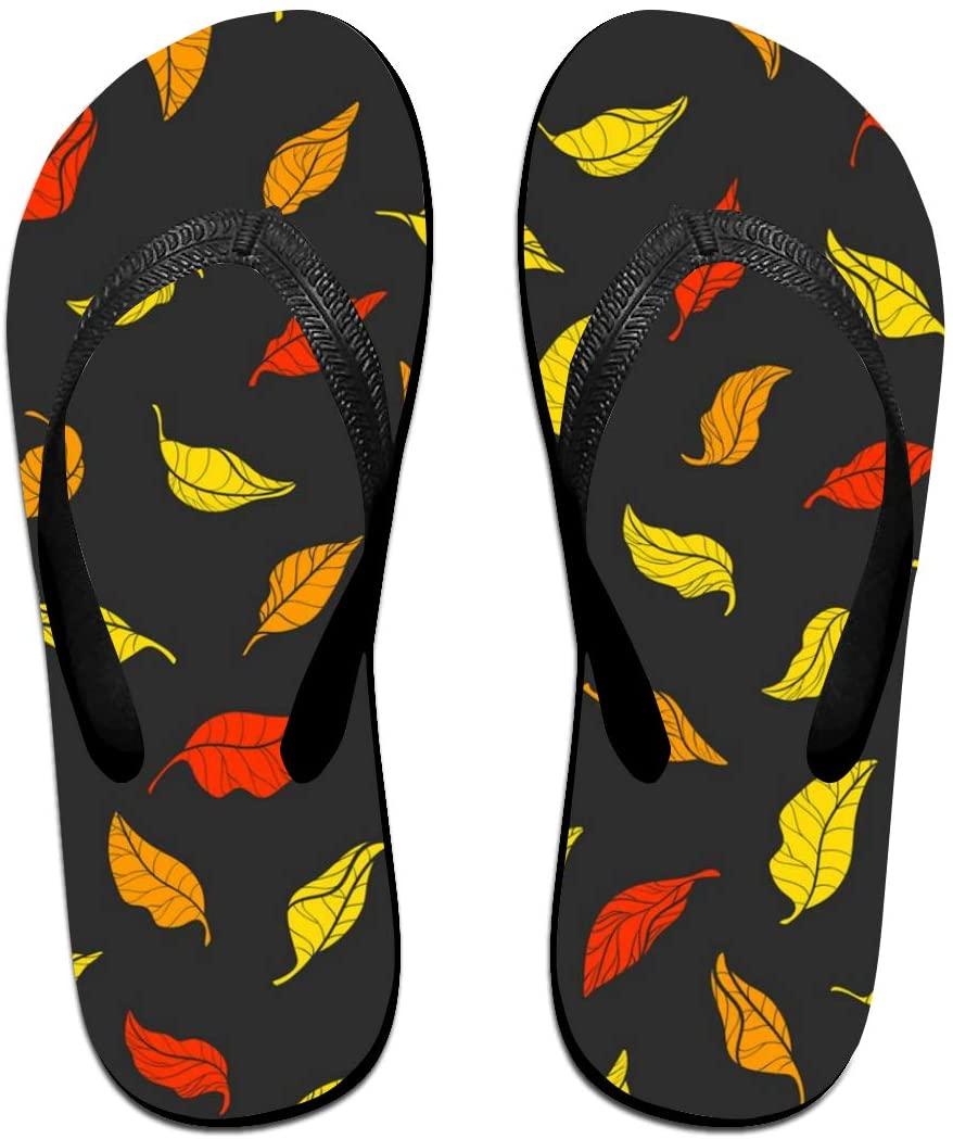 WAY.MAY Pattern Leaves Unisex Flip Flops Slippers Open Toe Beach Sandal