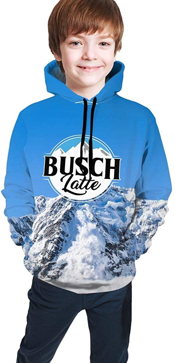 NYF Busch Light Busch Latte Youth Hoodie Pullover Hooded Sweatshirt Teen Hoodies for Boys and Girls