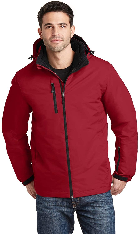 Vortex Waterproof 3-in-1 Jacket. J332 Rich Red/Black Medium