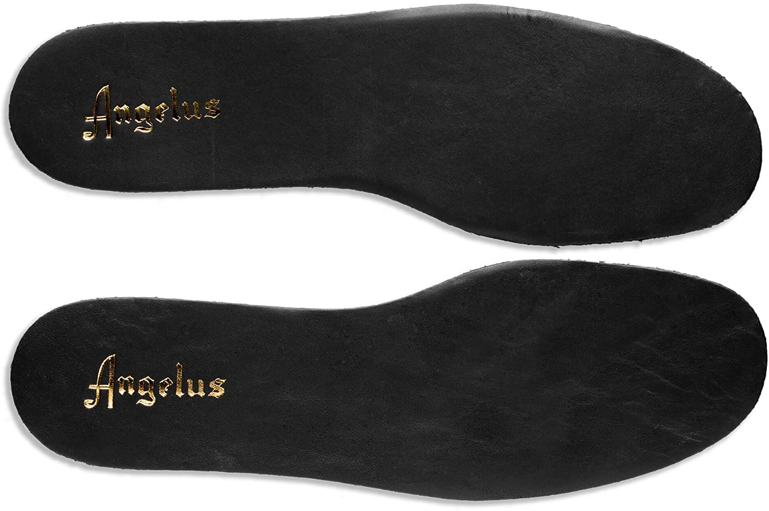 Premium Leather Insole for Shoes/Sneakers- Prevents Foot Odor- Absorbs Moisture- Can Customize and Paint on by Angelus (Black, 13)