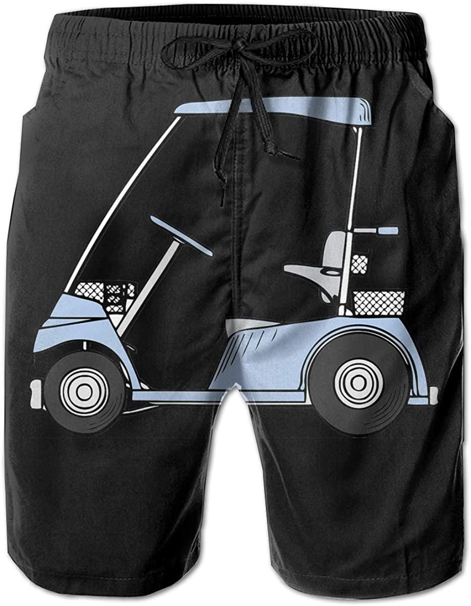 Ruto Golf Cart Mens Swim Trunks Summer Casual Athletic Swimming Short