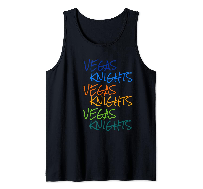 Vegas Knights VGK Colorful Rainbow Unisex/Youth T-Shirt Tank Top