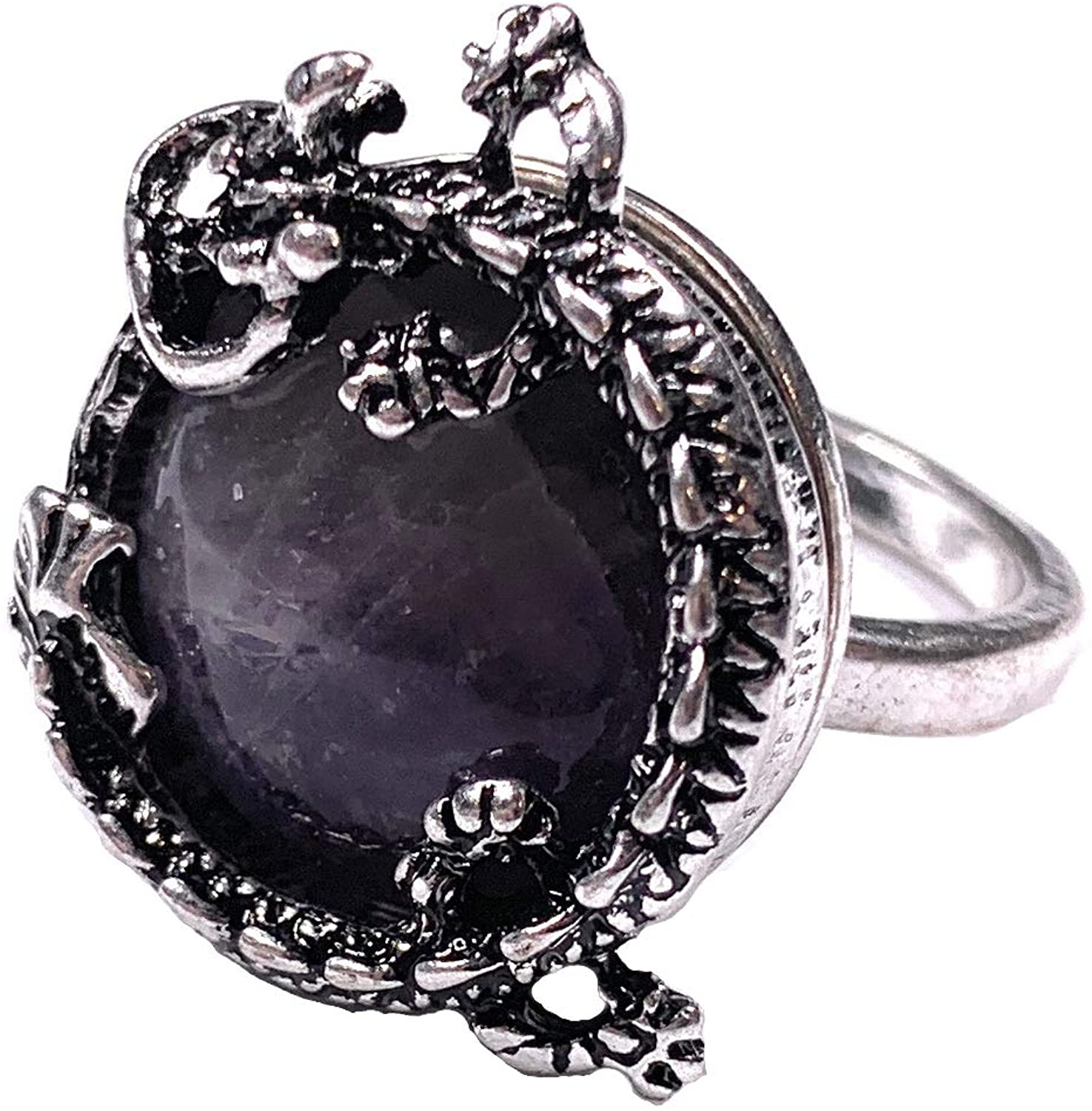 Skye Jewelry Ancient Chinese Dragon Ring w/Purple Stone Center Ring Sz. 7