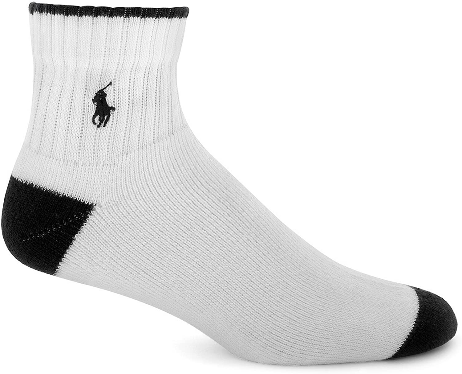 Polo Ralph Lauren Ankle Socks 3-Pack, One Size, White Assorted