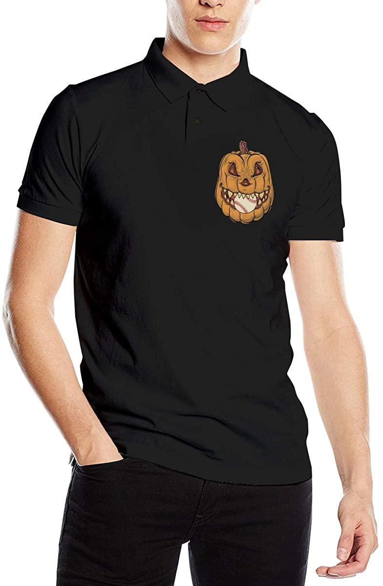 Funny Pumpkin Halloween Polo Shirts Black
