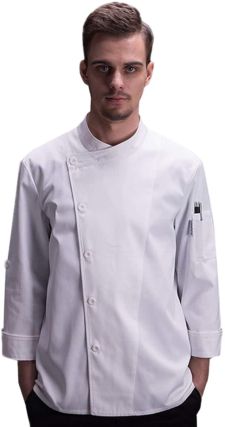 Unisex Chef Coat Adjustable Sleeve Chef Jacket