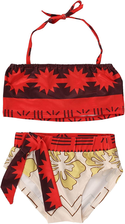 JerrisApparel Baby Girls Princess Digital Print Two Pieces Bikini Set