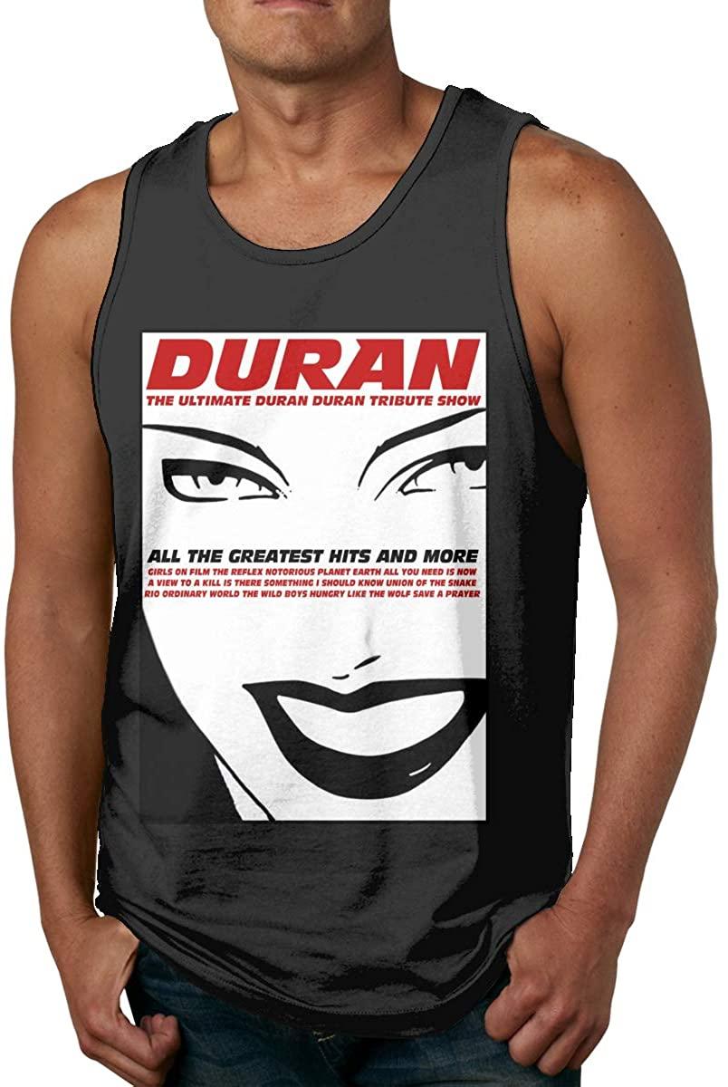Rio Duran Duran Poster Mens Tank Tops Summer Sleeveless Casual Vest Shirts Black