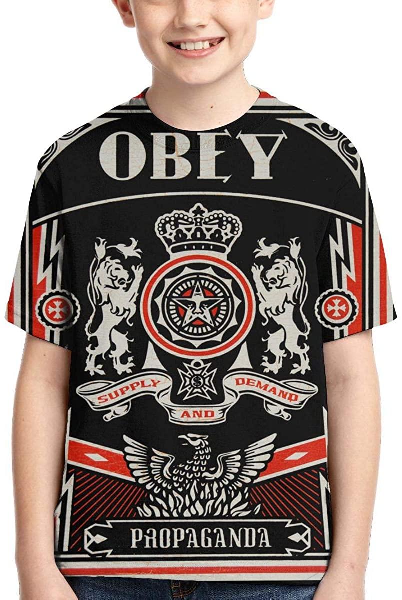 Wehoiweh Unisex Young T Shirt Obey-Propaganda Child Shirts Tees