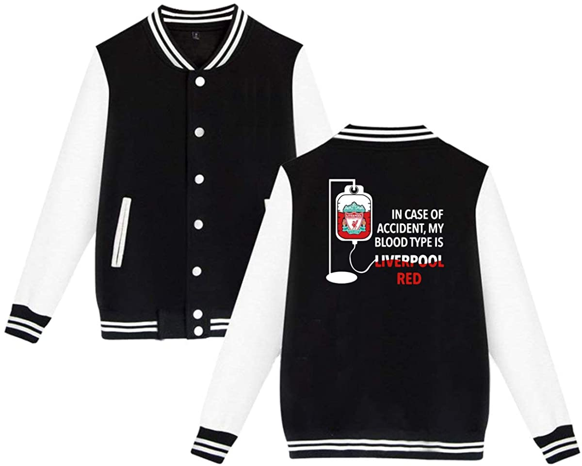 NOT in Case of Accident My Blood Type is Liverpool Red Unisex Baseball Jacket Varsity Jacket