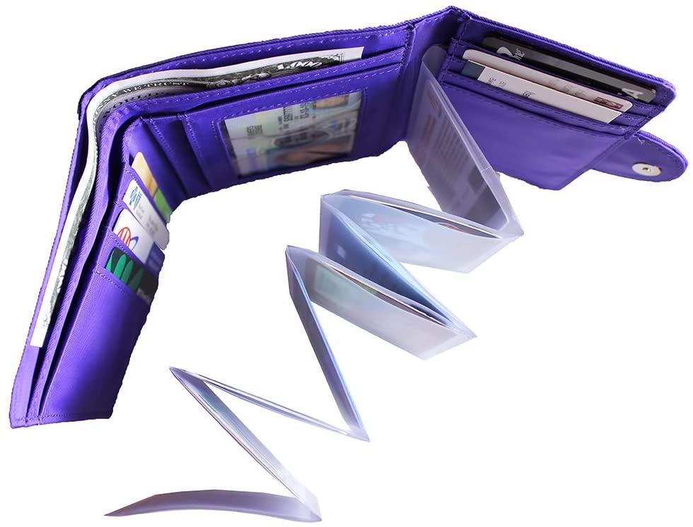 Big Skinny Plastic Accordion Photo Sleeve Insert for Slim Wallet