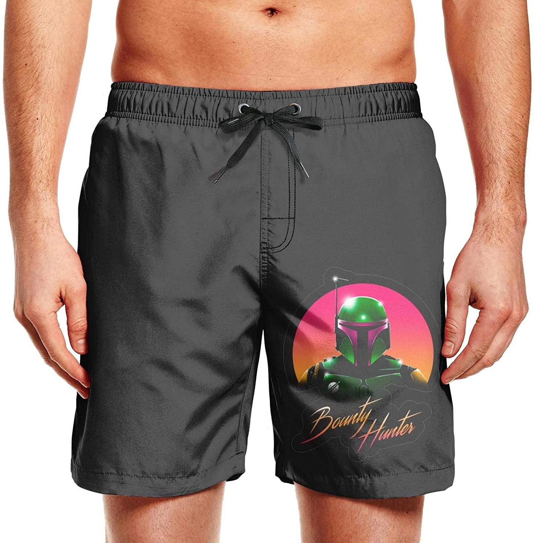 SweaterWg7 Summer Mens Swimming Shorts Mandalorian Quick Dry Comfortable Beach Shorts with Pocket Drawstring