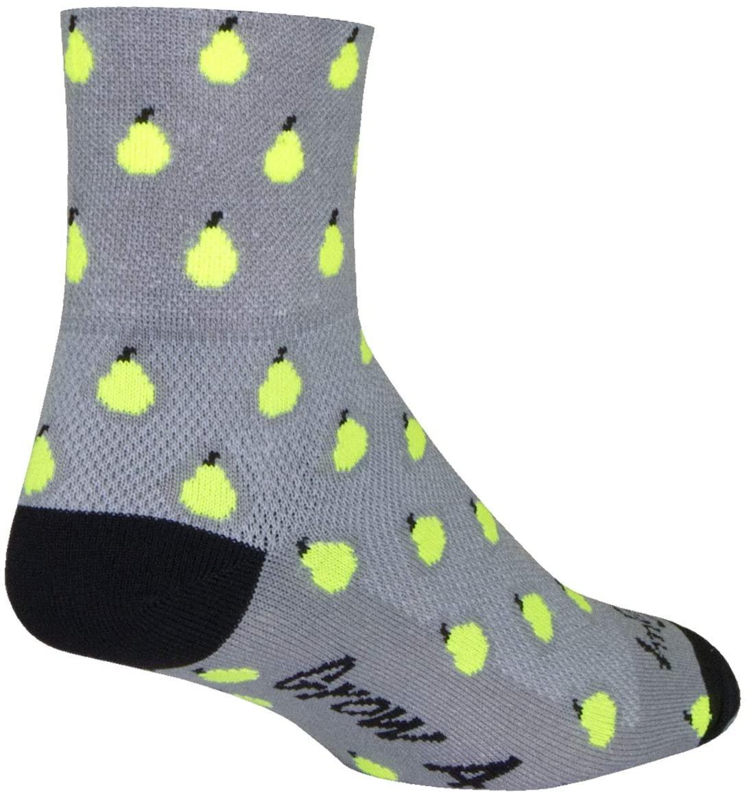 SockGuy Classic 3in Pears Cycling/Running Socks