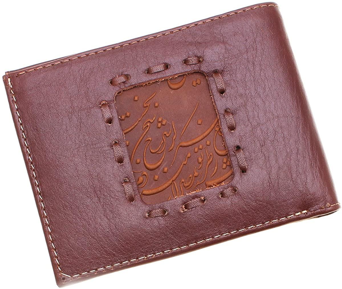 Asoodehdelan Genuine Leather Persian Parsi Poetry Men Wallet Persia Art Gift