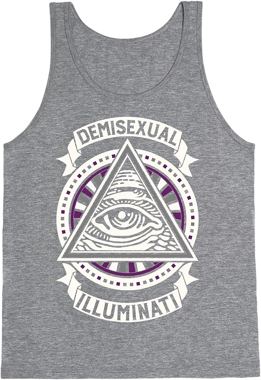 LookHUMAN Demisexual Illuminati Mens/Unisex Tank
