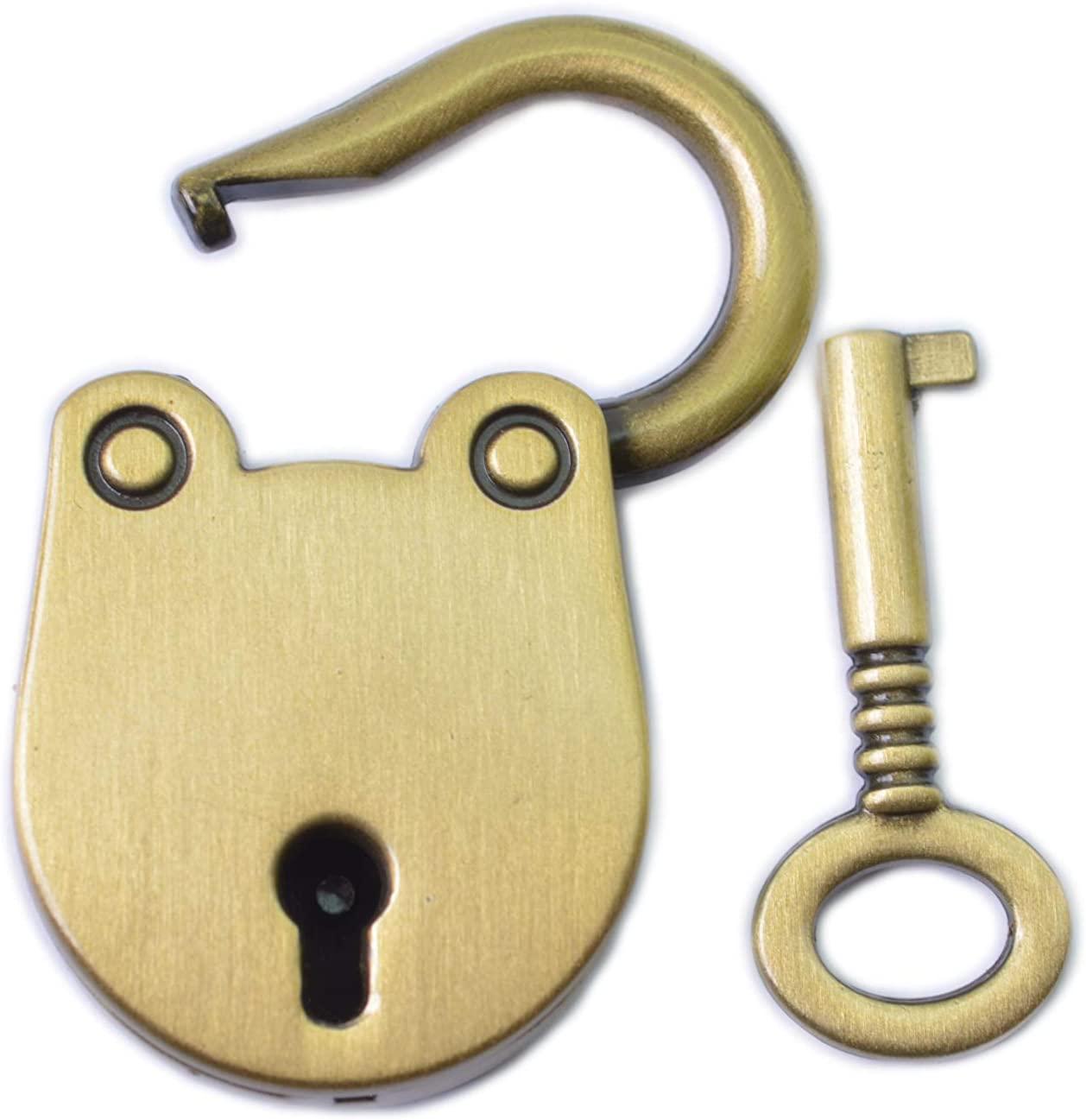 Bobeey 2pcs Bear Head Shape Turnlock Purses Twist Turn Locks Closures Bag Closure Suitcase Locks,Luggage Lock BBL12(Brushed Brass)