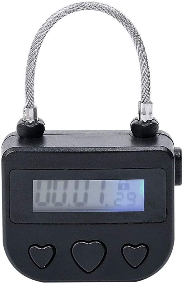 Electronic Timer Timed Lock Multi-Function Time Lock Travel Lock, Digital Time Switch (Deep Black)