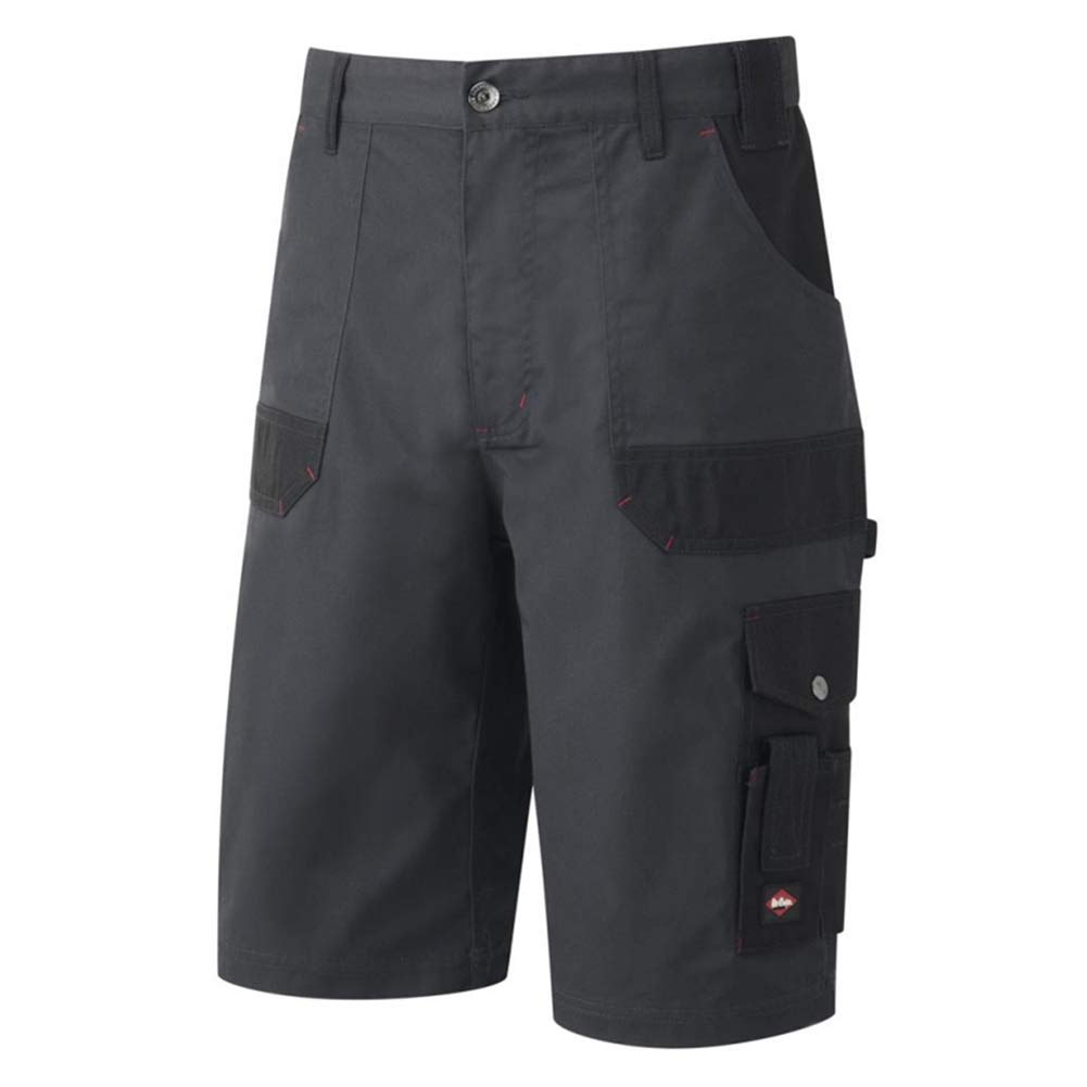 Lee Cooper Men's Cargo Shorts, Black, Waist:38in