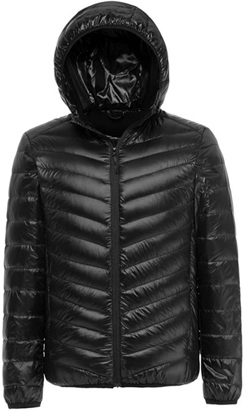 Lanmay Mens Ultralight Packable Hooded Down Jacket Puffer Down Coats