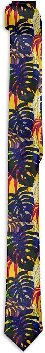 Mens Tie Hawaii Hawaiian Colorful Tropical Banana Palm Fashion Silk Skinny Ties Personalized Gift Neckties