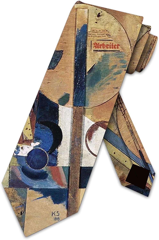 Art Ties Mens Kurt Schwitters Collage Necktie by Three Rooker