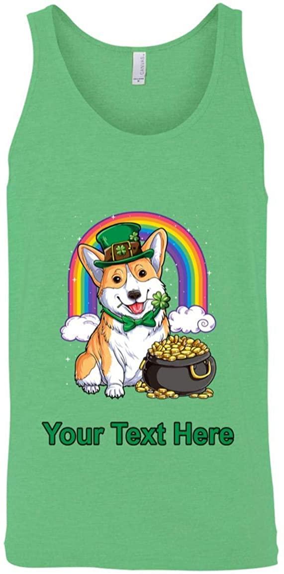 Corgi St Patricks Day Leprechaun Dog Lover Tank Top - Unisex Tank for Men & Womens